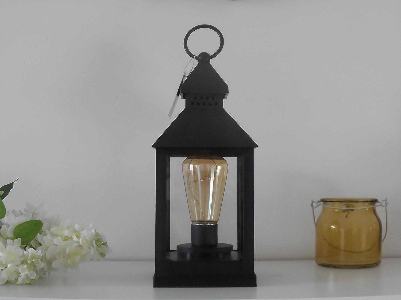 4 LED Battery Vintage Bulb Lantern Hanging or Table Lamp Indoor / Garden SIL