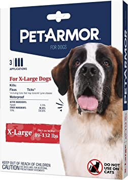 PetArmor for Dogs, Flea and Tick Treatment for Extra Large Dogs (89 132 Pounds), Includes 3 Month Supply of Topical Flea Treatments
