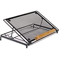 """Mount-It! Mesh Laptop Stand, Height Adjustable Ventilated Laptop Riser with Cooling, 14x9"""""""