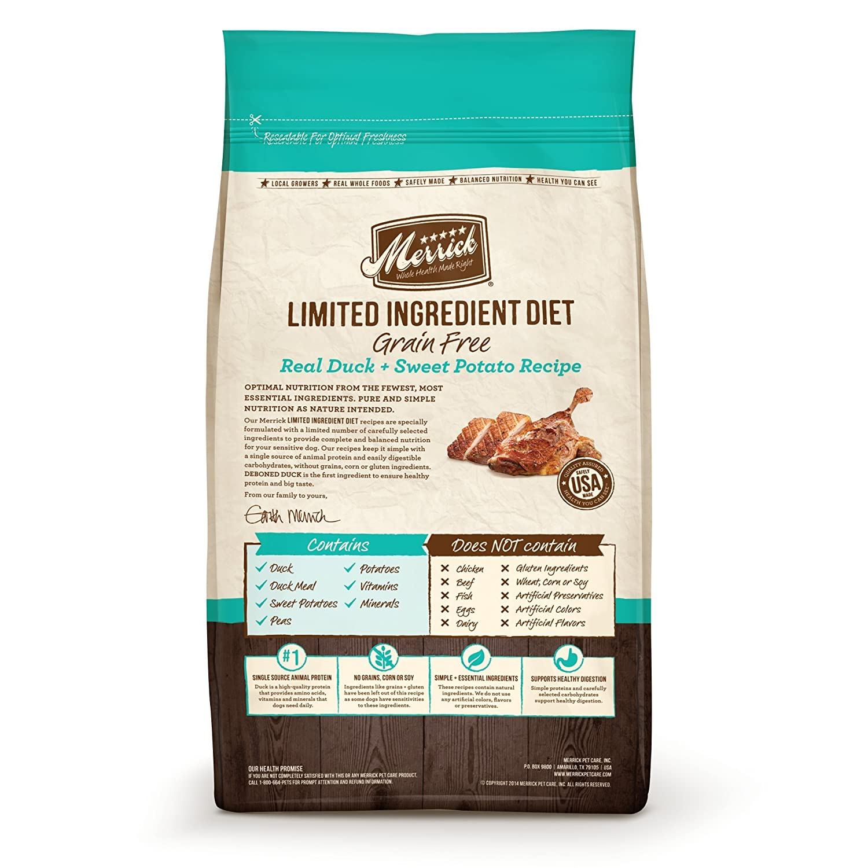 Amazon.com : Limited Ingrediente dieta real Pato y Receta Camote Pet Food, 12-Pound : Pet Supplies