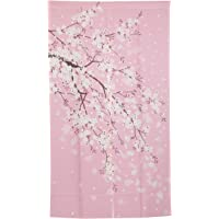 I-MART Cherry Blossom Japanese Noren Doorway Curtain, 59 inches X33.5 inches