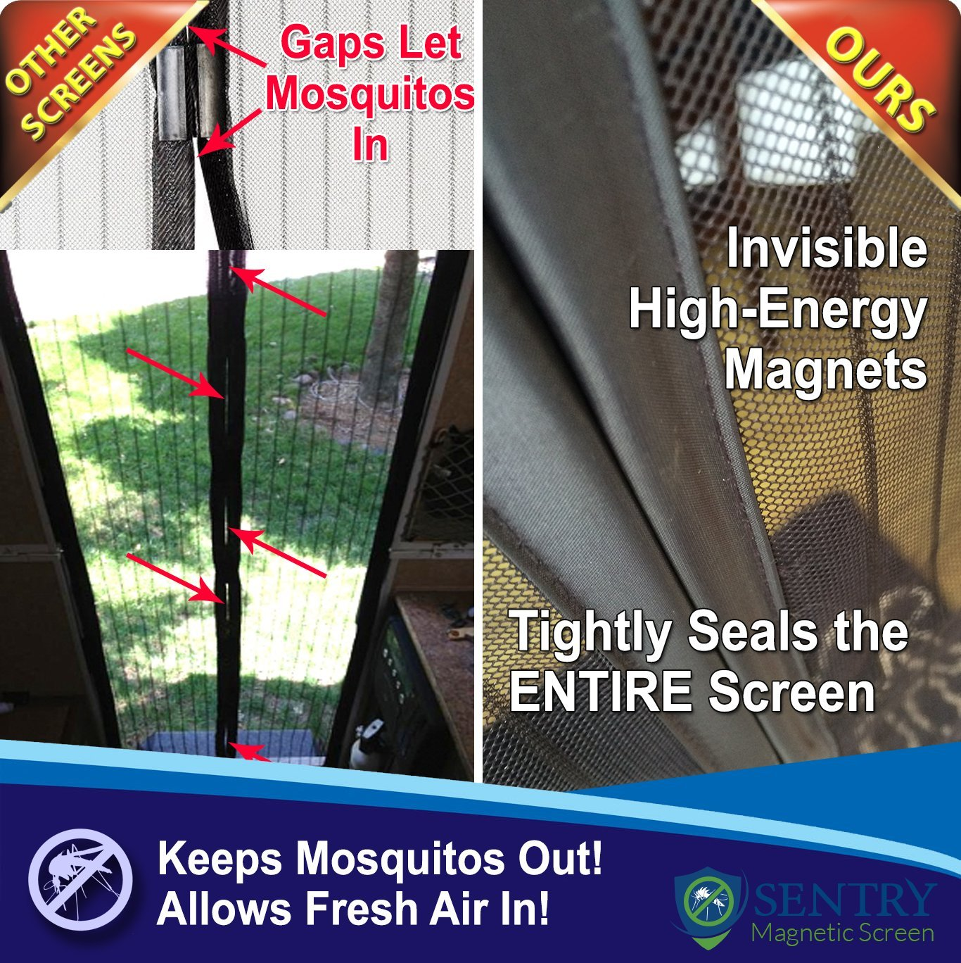 Magnetic Screen Door Many Sizes And Colors To Fit Your Door