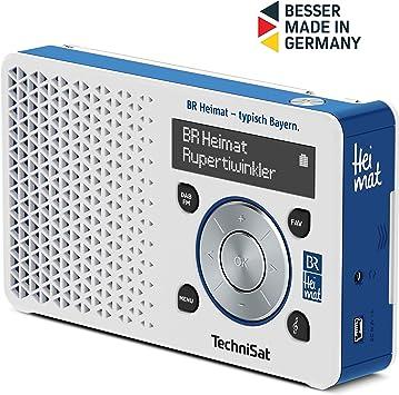 Technisat Digitradio 1 Br Heimat Edition Portables Dab Radio Klein Tragbar Mit Lautsprecher Dab Ukw Favoritenspeicher Direktwahltaste Zu Br Heimat Weiß Blau Heimkino Tv Video