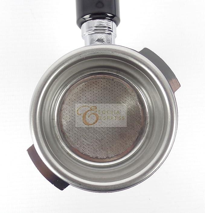 Portafiltros con mango - Para cafeteras exprés ASTORIA 58mm - Canasta de 14 g con doble salida: Amazon.es: Hogar