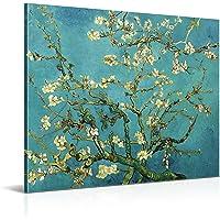 Cuadro Almendro en Flor de Vincent van Gogh - 50 x 40 cm - Decoración Moderna para Salón y Dormitorio, Lienzo de…
