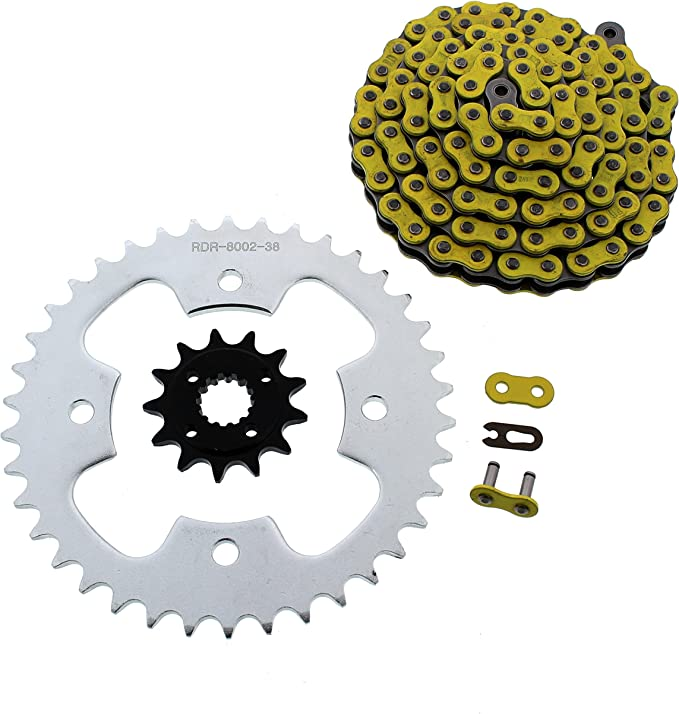 2003-2007 Polaris Predator 500 O-Ring Chain /& Silver Sprocket 13//38 94L