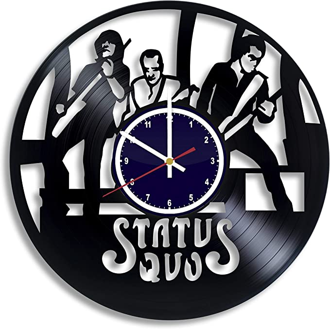 unique gift Up-cycled record album wall clock rock and roll fan recycled art Humble Pie music lover gift recycled clock