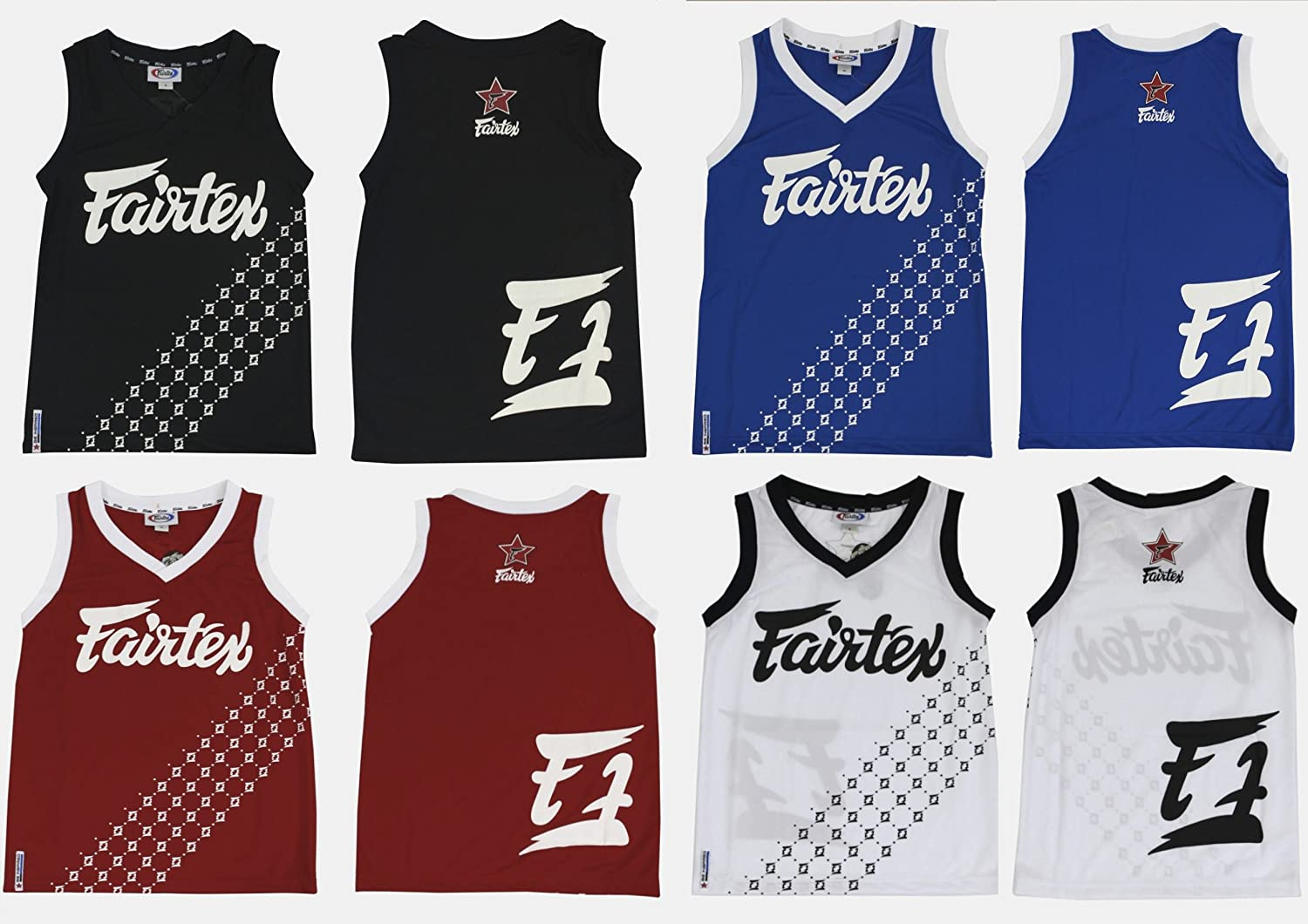 9d825a9aa Amazon.com   FAIRTEX MMA BASKETBALL JERSEY - JS6 - BLUE   Sports   Outdoors