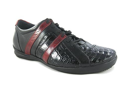 044e509df37 Zapatos de Caballero en Piel de Ternera y Cocodrilo Franco Cuadra   Amazon.es  Zapatos y complementos