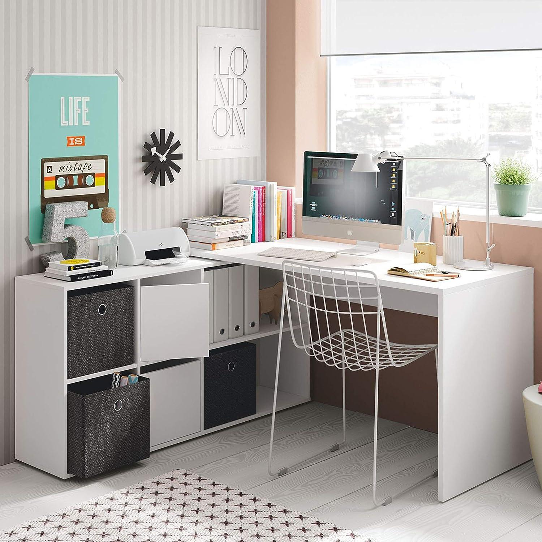 Habitdesign 004606A - Mesa Escritorio, Mesa despacho Reversible ...