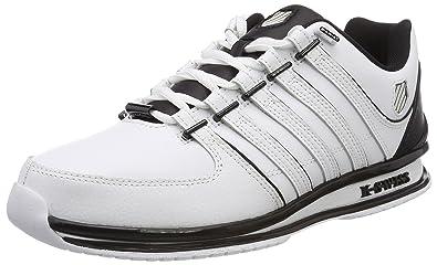 K-Swiss Rinzler Trainer, Sneakers Basses Homme, Noir (Black/Gull Gray/White), 39.5 EU
