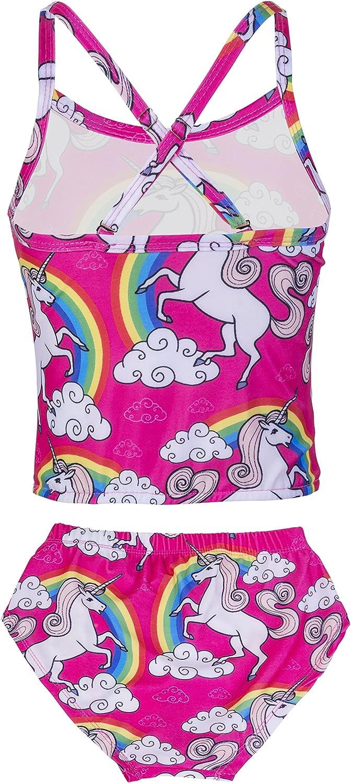 KABETY Girls' Kabety Rainbow Unicorn Swimsuit Two Pieces
