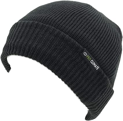 Pro Climate Mens Hat Waterproof Windproof Thinsulate Black
