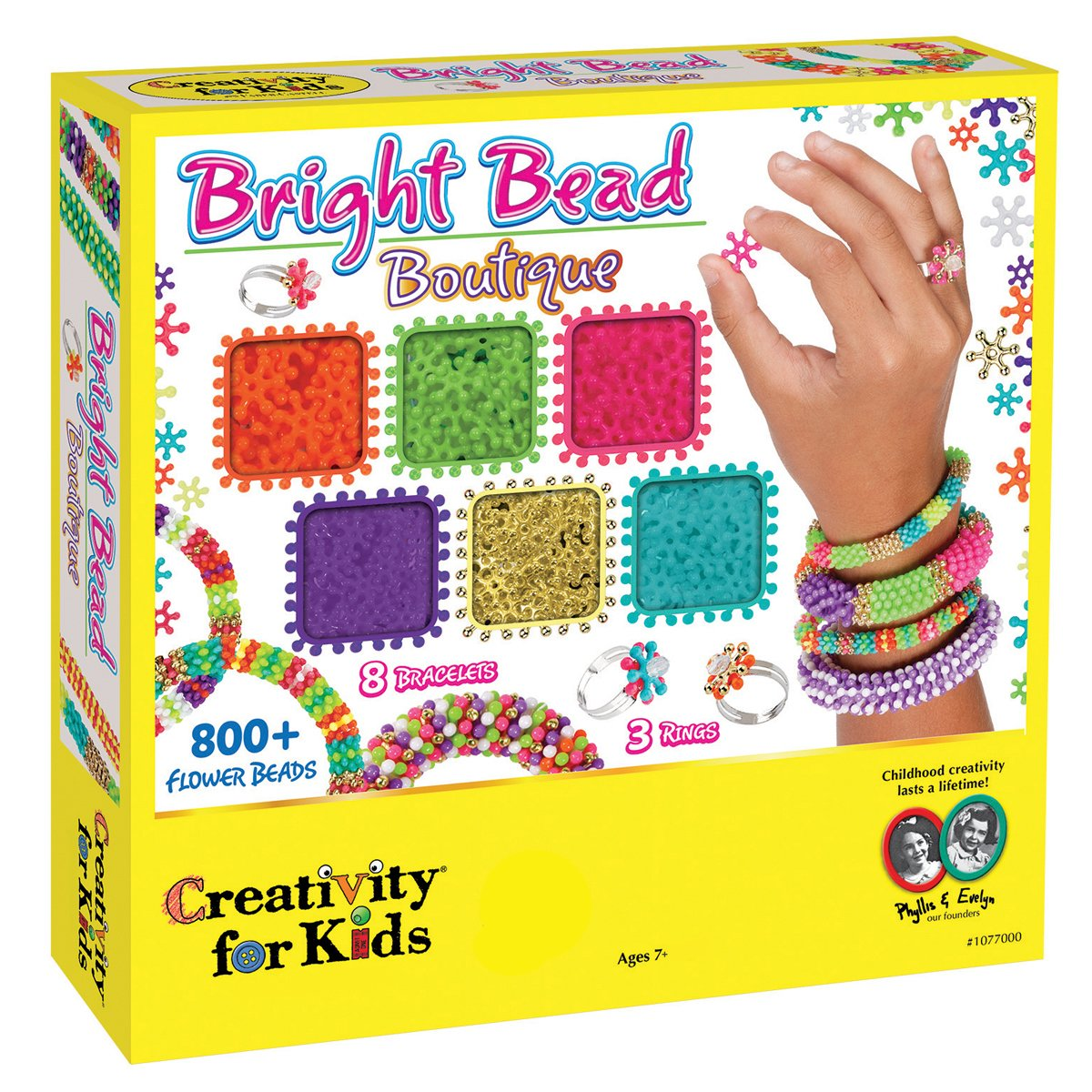 Creativity for Kids Bright Bead Boutique Kit 800 Flower Beads