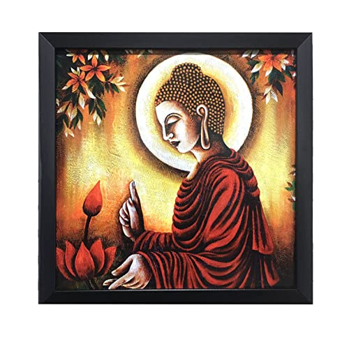 Paper Plane Design Lord Buddha Wall Art Paintings For Living Room And  Bedroom. Frame Size