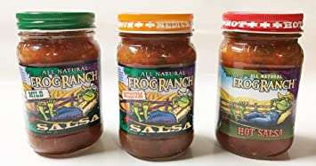 Frog Ranch Hot, Medium & Mild All Natural Salsa 16 oz. (Pack of