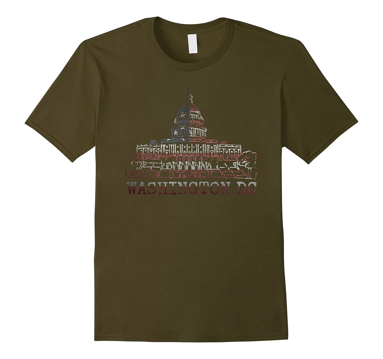 Washington DC American Flag City Pride Souvenir Gift Tshirt-BN