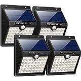 iPosible 【3 Modalità-1800mAh】 Luce Solare da Esterno, [4 Pezzi] 46 LED Lampada Solare con Sensore di Movimento Impermeabile Luci Solari da Parete Wireless Illuminazione Solare LED per Giardino,Patio