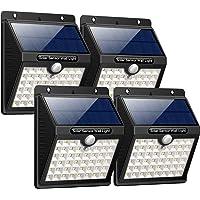 Lampe Solaire Extérieur, iPosible [4 Pack]46 LED Lumière Solaire Etanche éclairage Solaire avec Détecteur de Mouvement Lampe de Sécurité sans Fil avec Trois Modes Intelligents lampe mural pour Jardin