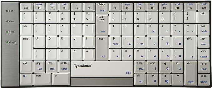 Typematrix Teclado ergonómico 2030 US Dvorak Layout
