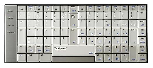 Teclado ergonómico TypeMatrix 2030 US Dvorak layout: Amazon.es: Electrónica