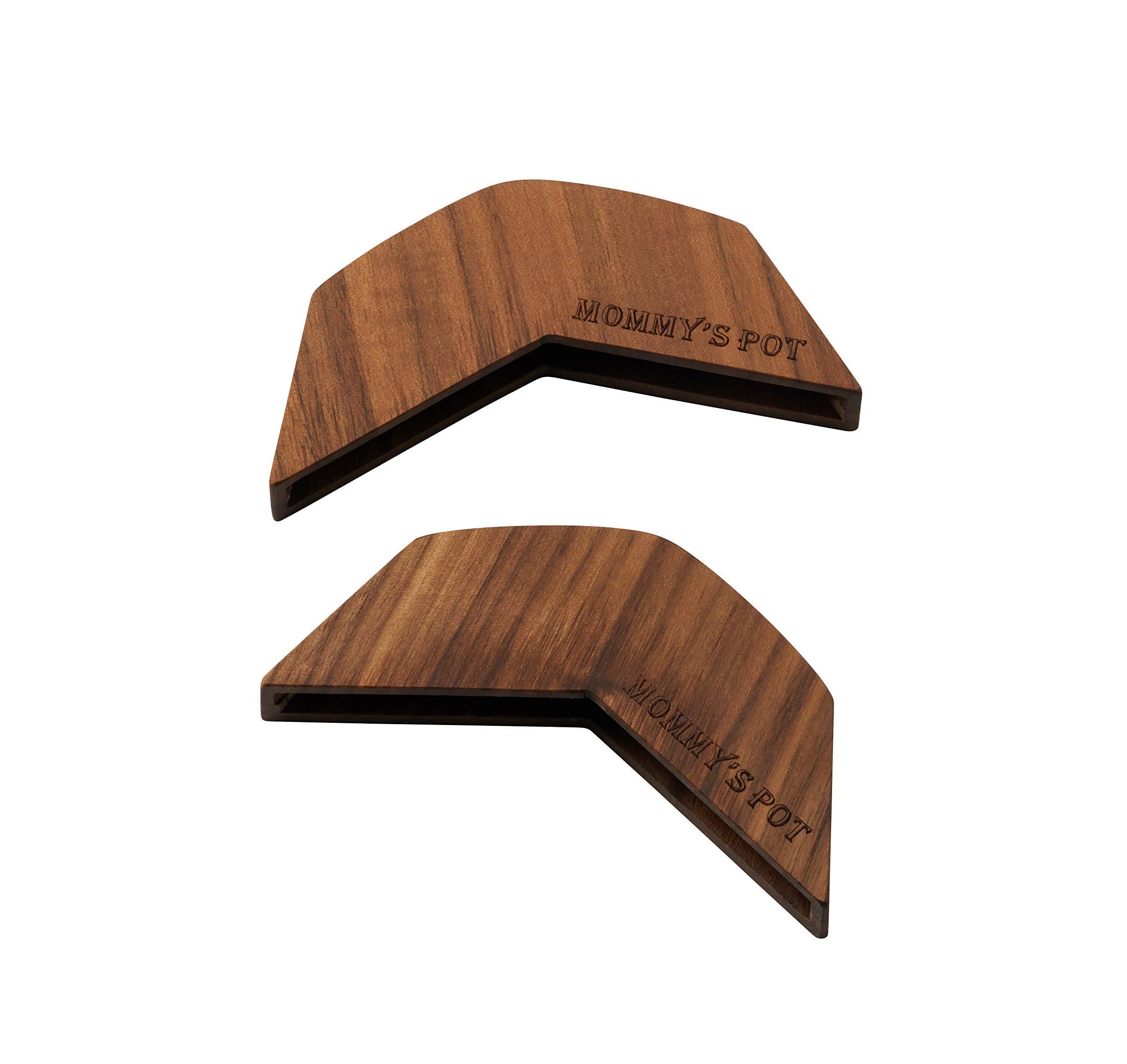 MommysPOT Wood Hot Handle Cover/Holder, Walnut - Only Dutch Oven, Gratin, Grill Pan (11 x 4 x 2)