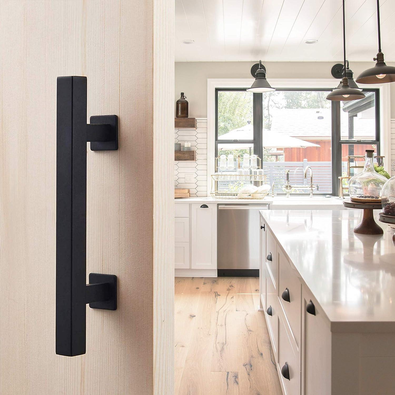 Cast Iron Furniture Handle Hanging Handle Cabinet Handle Industrial Kitchen Handle Black 55mm