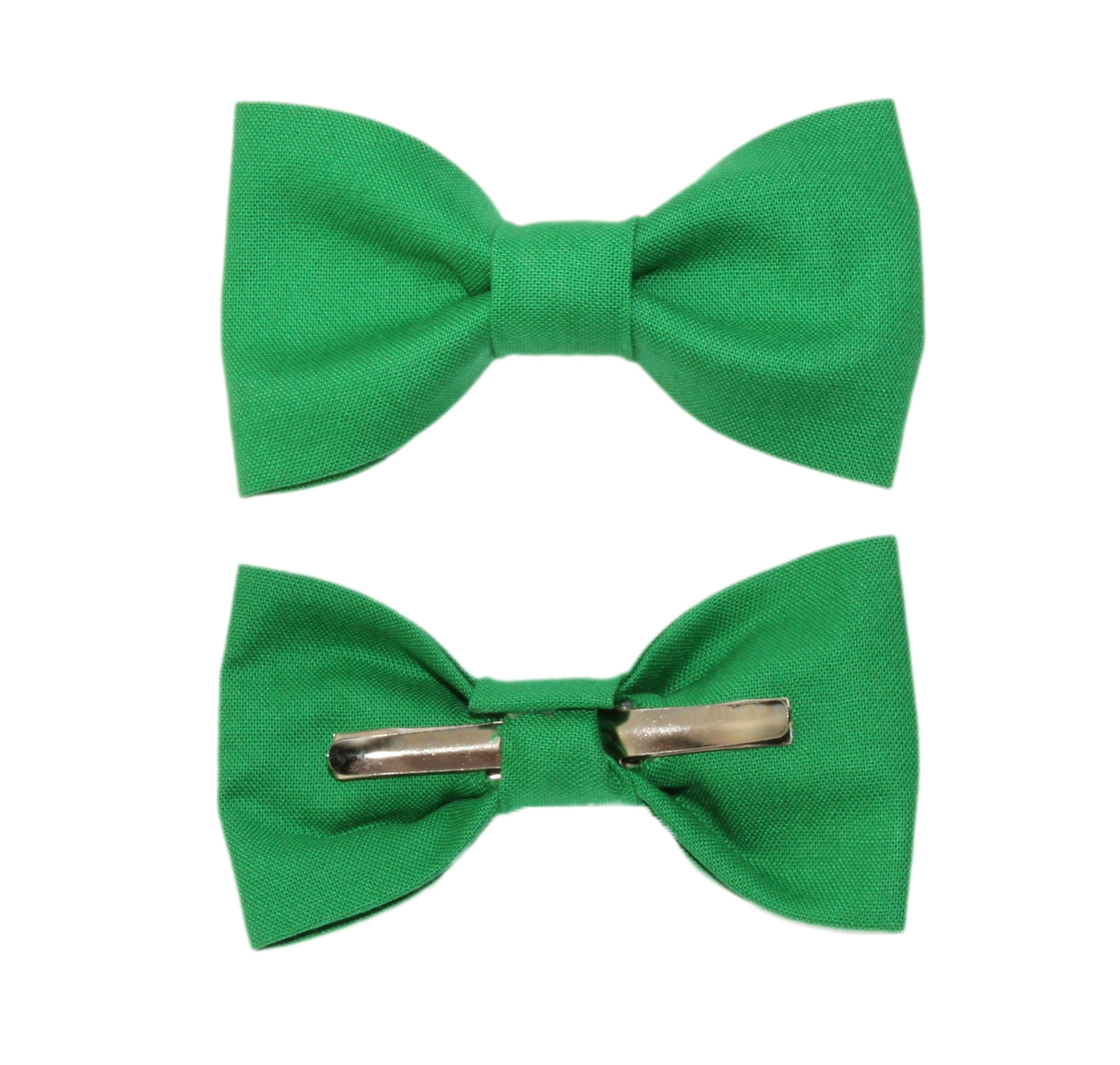 Toddler Boy 4T 5T Green Clip On Cotton Bow Tie Bowtie