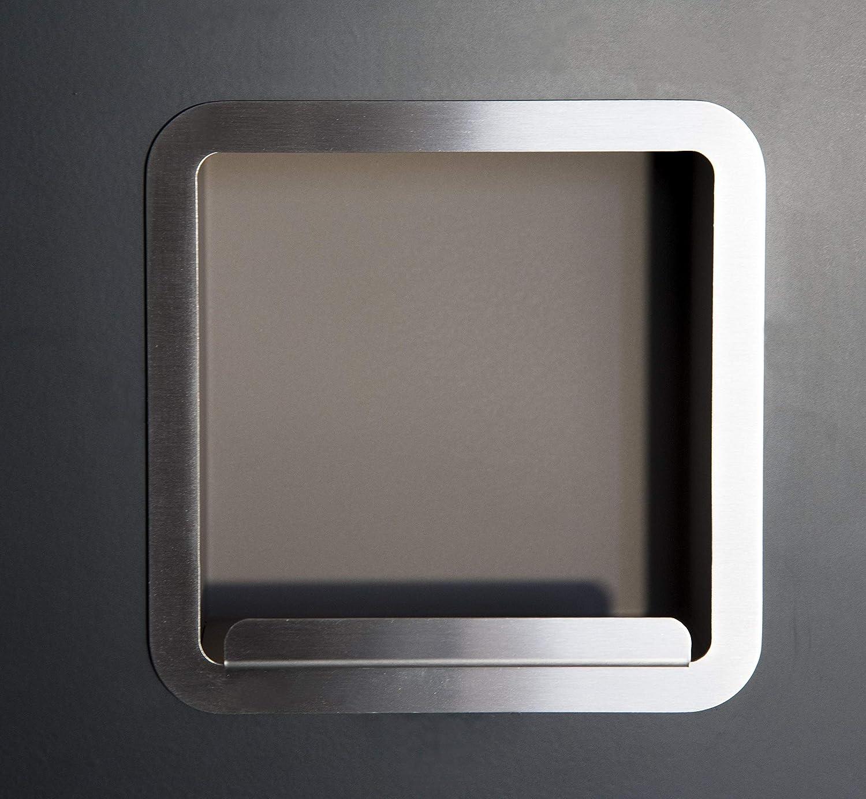 Composant porte rouleau encastrable en acier TR02 finition brillante.