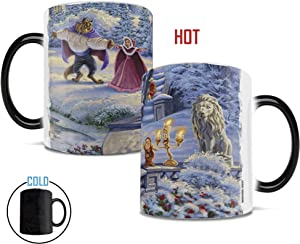 Disney – Beauty and the Beast – Winter Enchantment – Thomas Kinkade – Morphing Mugs Heat Sensitive Mug – Ceramic Color Changing Heat Reveal Coffee Tea Mug – by Trend Setters Ltd.