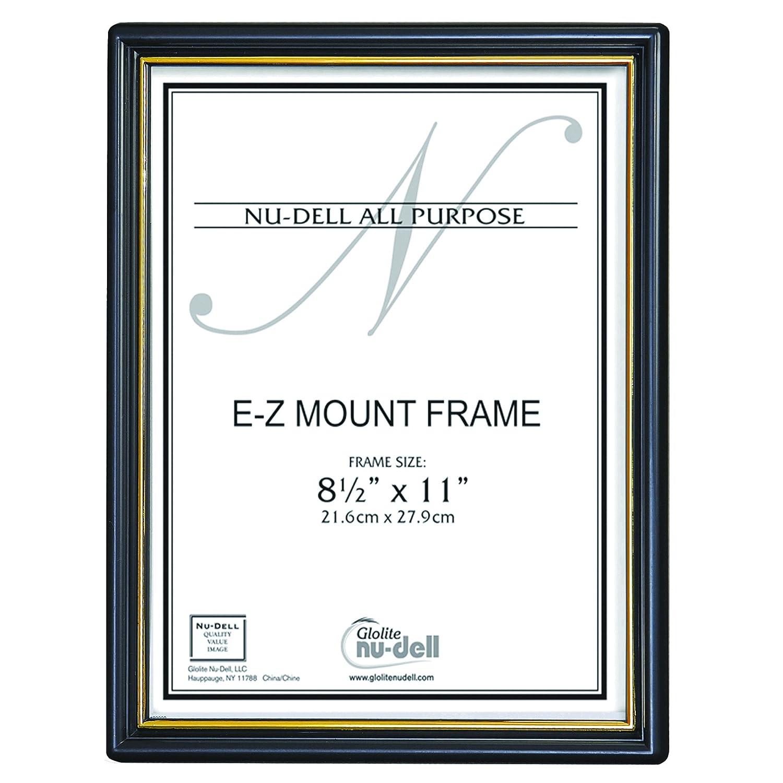 Shop amazon document frames nudell 85 x 11 ez mount economy document frame plastic face black with xflitez Choice Image