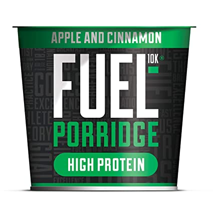 Fuel10k Porridge Pots Apple And Cinnamon 8x70g High Protein On The Go Breakfast