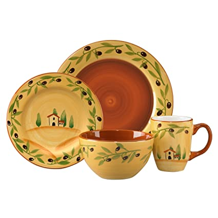 Pfaltzgraff Everyday Olive Grove 16-Piece Dinnerware Set (Service for 4)  sc 1 st  Amazon.com & Amazon.com | Pfaltzgraff Everyday Olive Grove 16-Piece Dinnerware ...