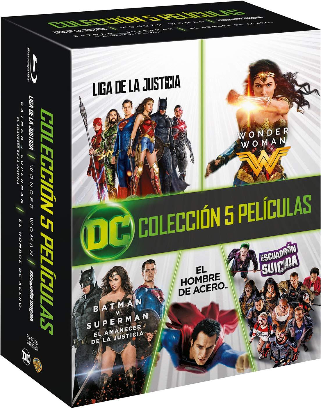 Dc Colección 5 Películas 2013-2017 Blu-Ray Blu-ray: Amazon.es ...