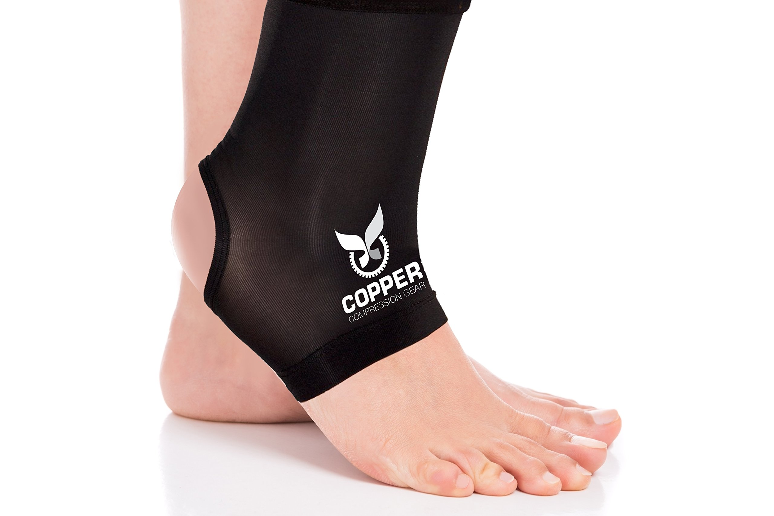 Copper Compression Gear PREMIUM Fit Recovery Ankle Sleeve - 100% GUARANTEED - #1 Ankle Brace/Support Sock/Wrap / Stabilizer For Men And Women
