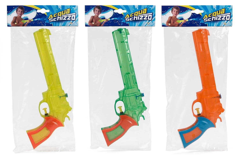 Globo giocattoli globo 36214–28cm 3colore estate trasparente pistola ad acqua Globo Toys Globo - 36214
