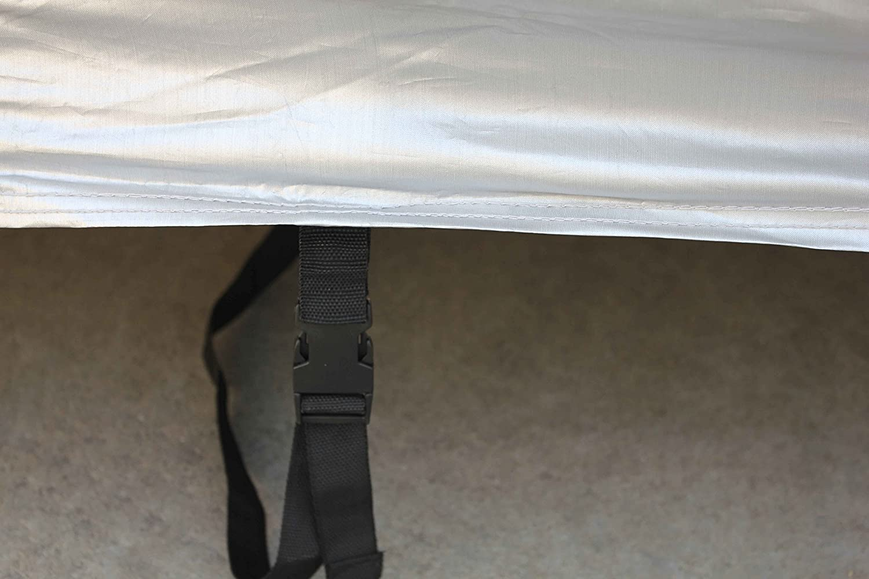 Plata logei/® Funda para Coche Funda Coche Exterior Lona para Coche Cubre Coches Funda de Coche Cubierta de Coche Impermeable L,457*165*120cm