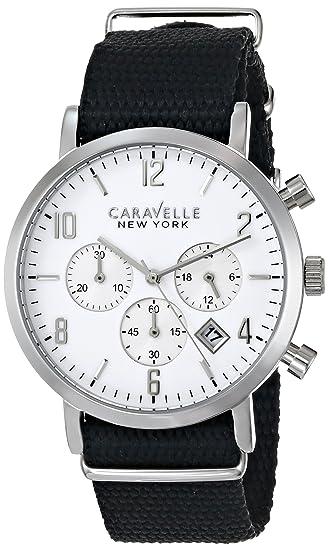Caravelle New York 43B137 del by Bulova Hombres Analógico Negro Reloj de cuarzo japonés: Caravelle by Bulova: Amazon.es: Relojes