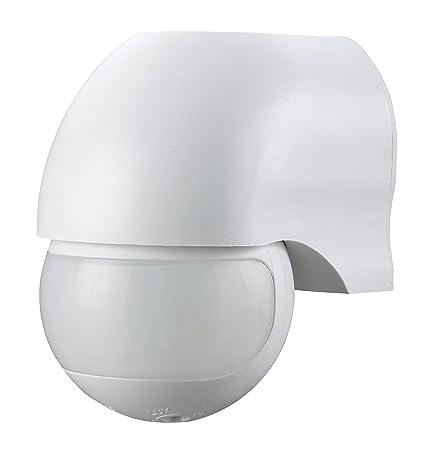 Garza 430042 Power-Detector de Movimiento Infrarrojo de Pared, Ángulo de Detección 180º,