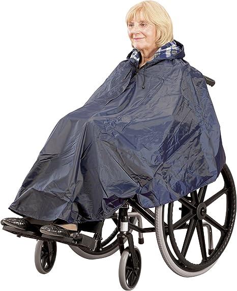 poncho abrigo para silla de ruedas