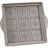 Nordic Ware Snowflake Shortbread Pan, Silver
