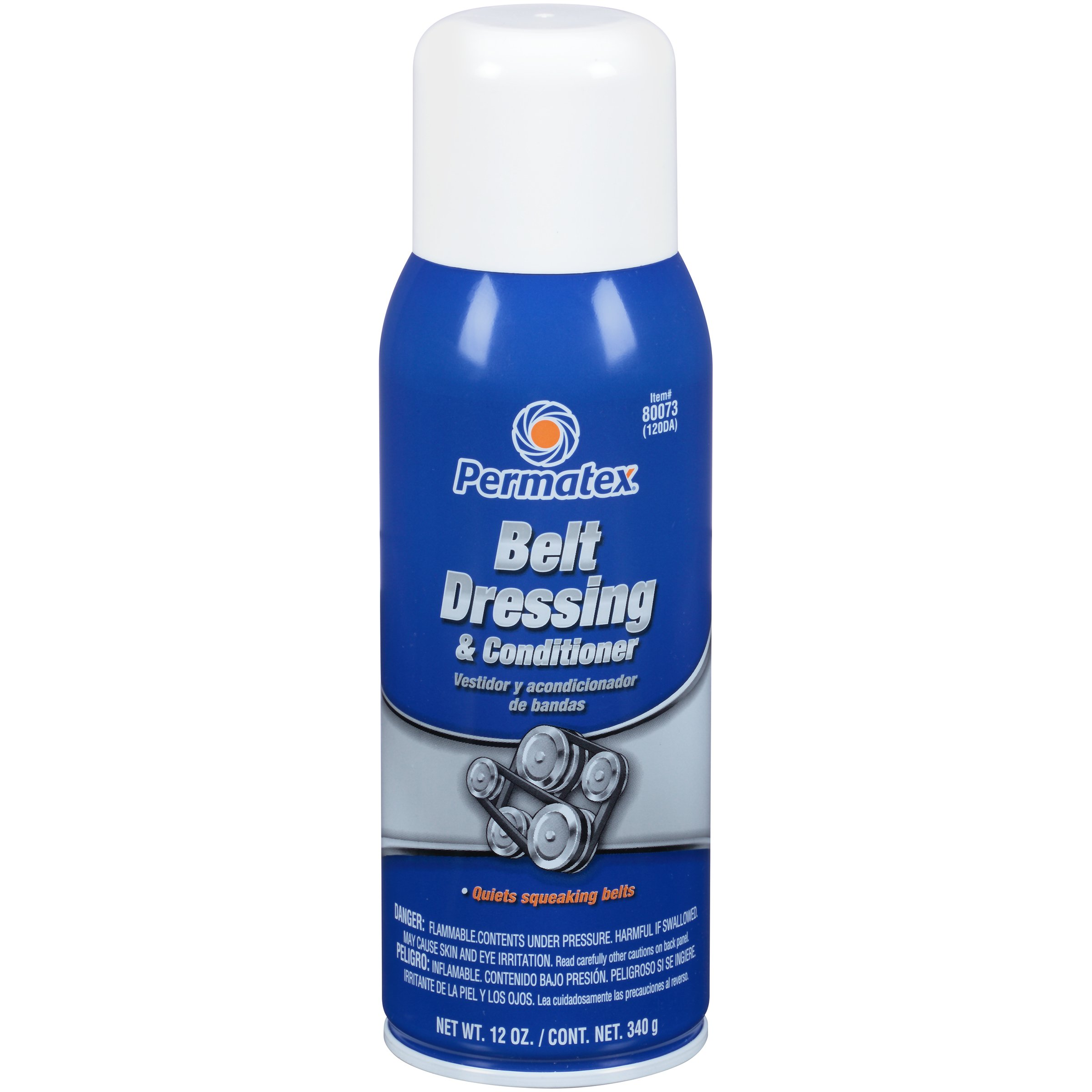 Permatex 80073-12PK Belt Dressing and Conditioner, 12 oz. net Aerosol Can (Pack of 12) by Permatex