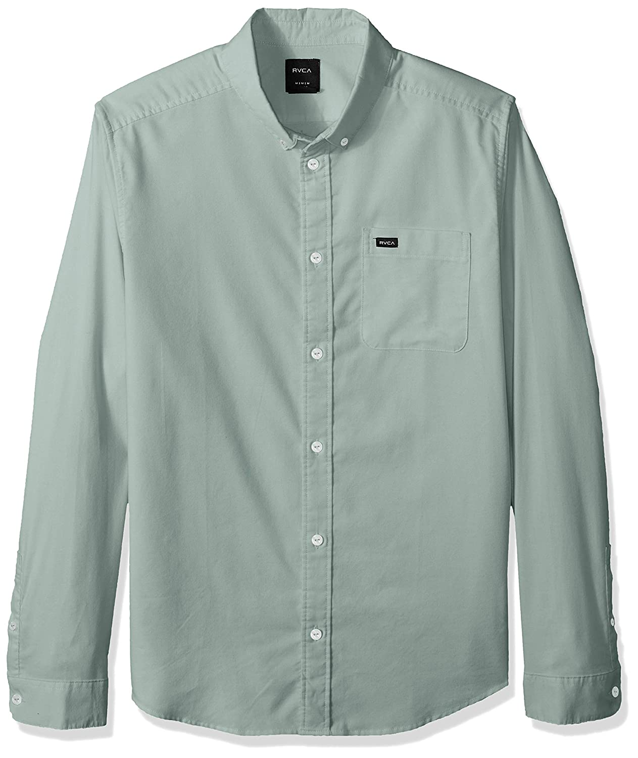RVCA Mens Thatll Do Stretch Long Sleeve Button Up Shirt