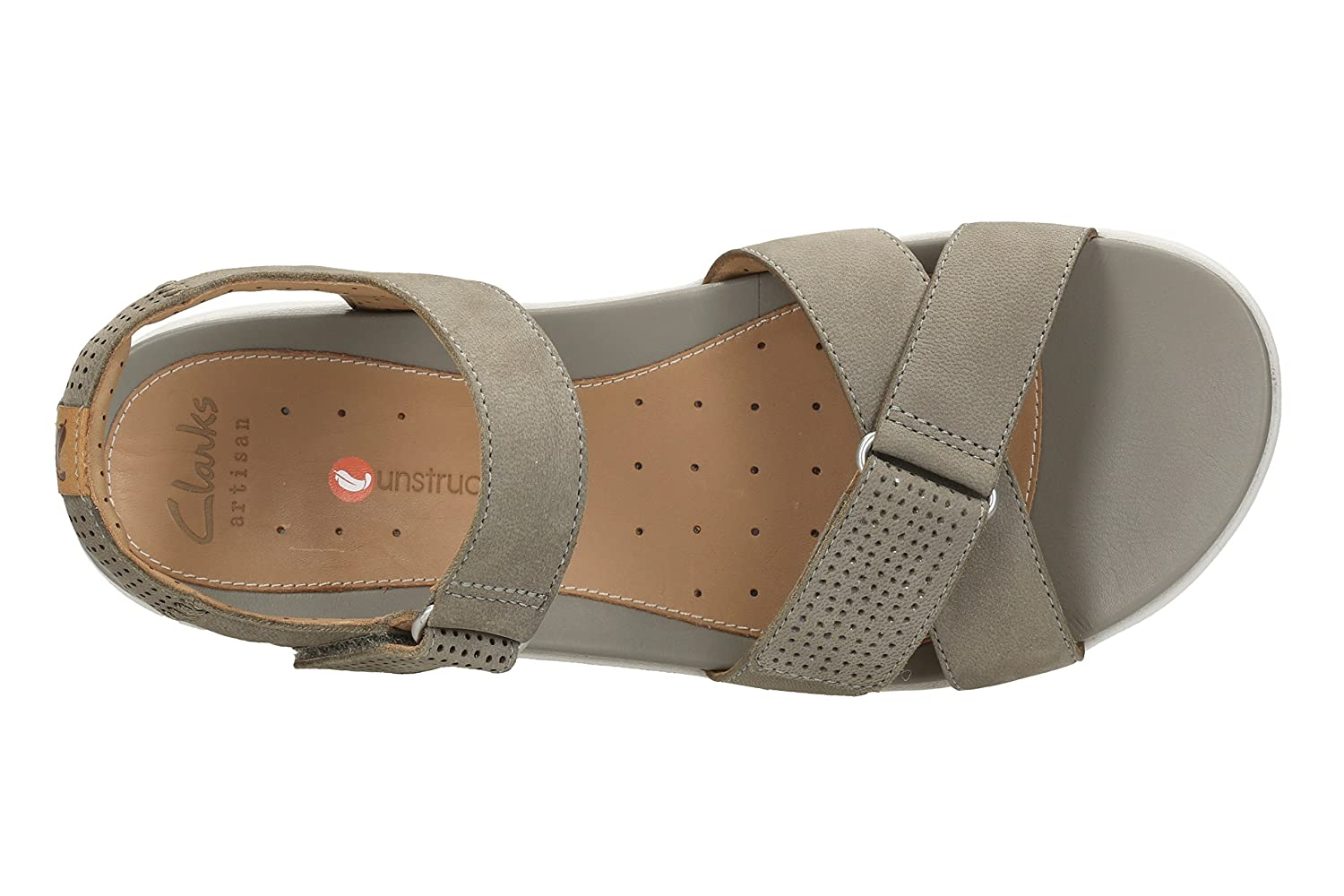 99b3c8b8d29 Clarks Un Saffron Nubuck Sandals in Sage Wide Fit Size 8  Amazon.co.uk   Shoes   Bags