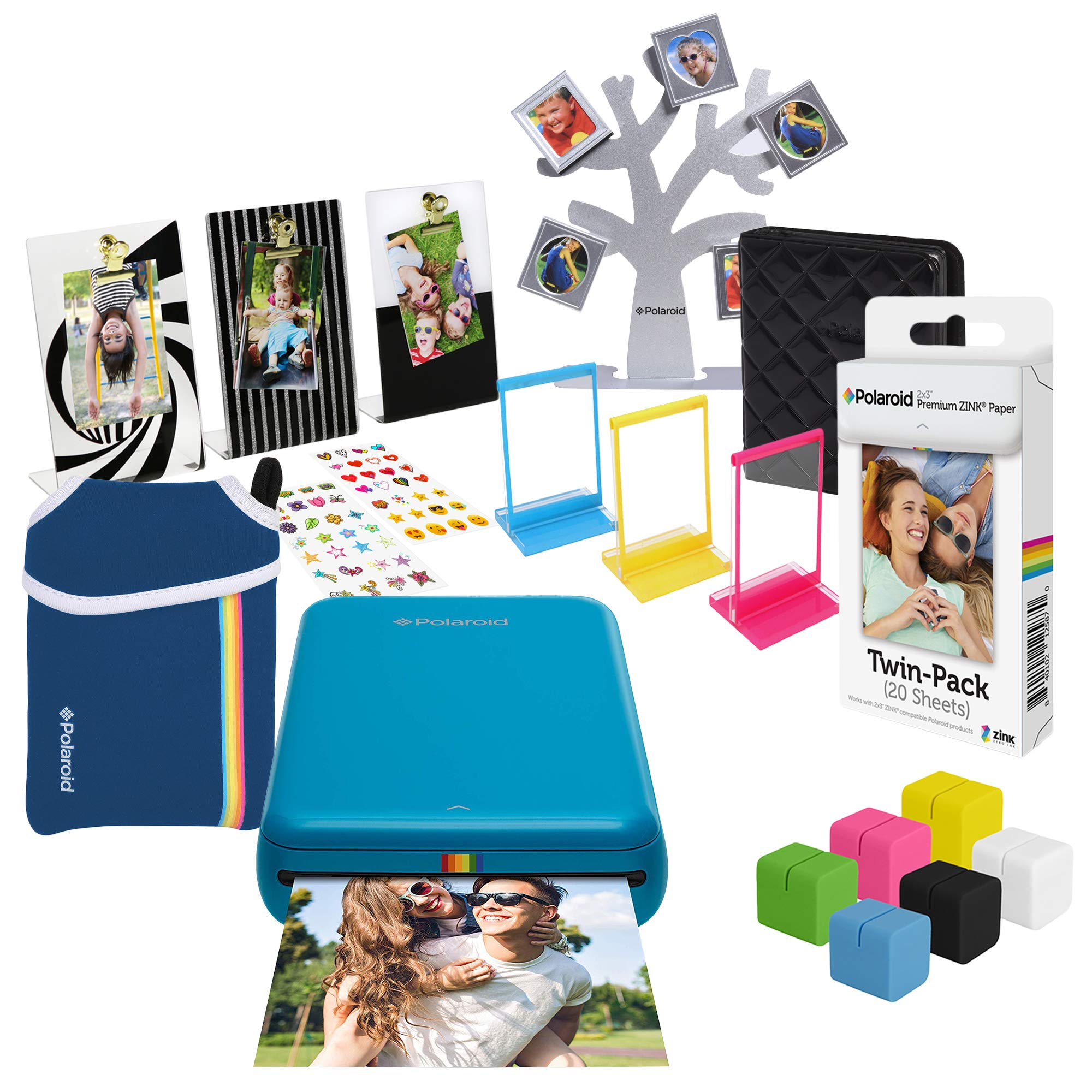 Polaroid Zip Wireless Photo Printer (Blue) Ultimate Gift Bundle by Polaroid