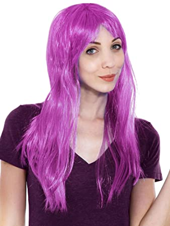 Image Unavailable. Image not available for. Color  Women s Long Straight  Full Hair Wig for Cosplay Halloween Costume 93f39b53f