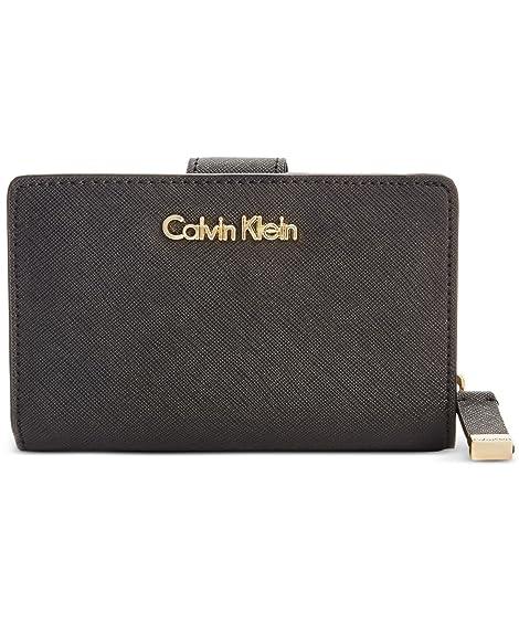 Calvin Klein - Cartera para mujer mujer negro negro y dorado: Amazon.es: Zapatos y complementos