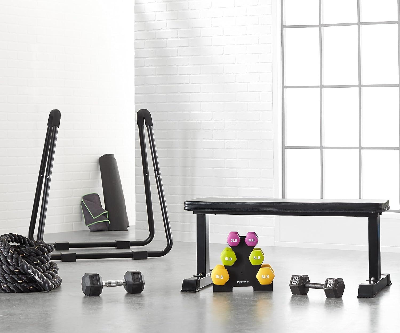 Amazon Basics Flat Weight Workout Exercise Bench