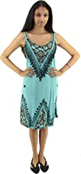 00e228b2893b9 Fashion Island Women's Acid Wash Embroidered Dress
