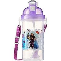 Disney FRBO-820LII Frozen BPA-Free Pop-up Canteen, 500ml, Purple (Frozen 2)